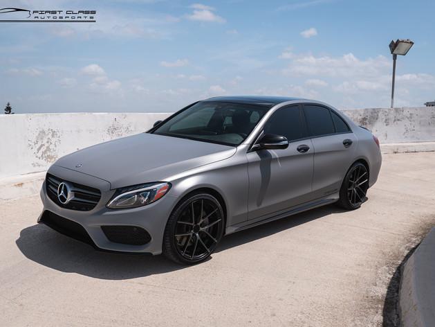 Mercedes Benz - Satin Grey Car Wrap