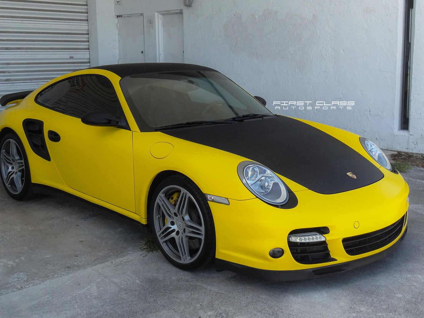 porsche turbo custom wrap Miami