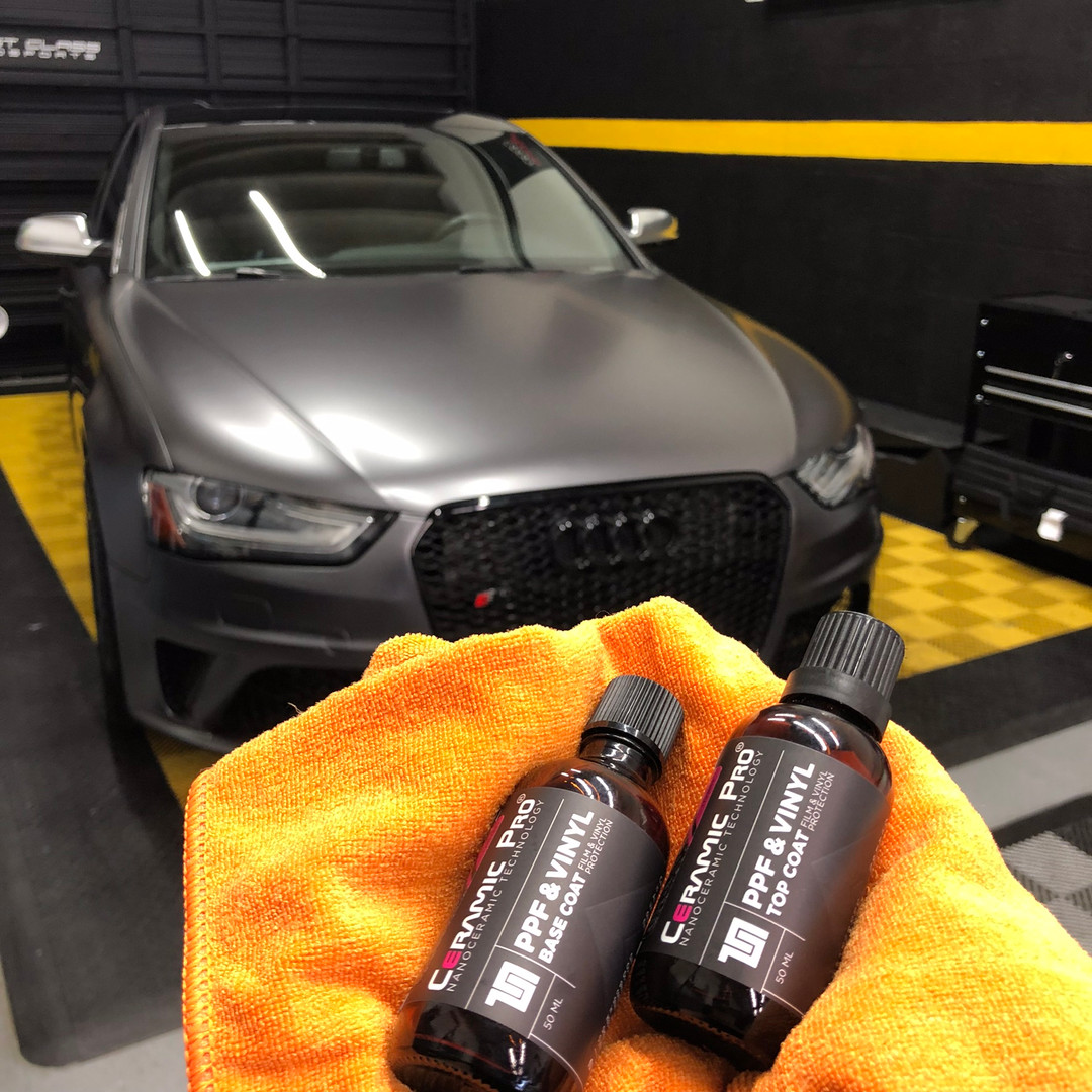Audi vinyt wrap ceramic pro coating Miami