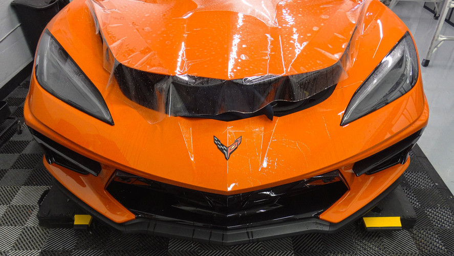 Corvette C8 - Full Front Paint Protection Film Miami