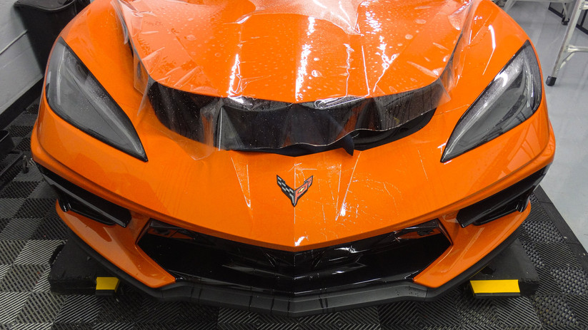 Corvette C8 - Full Front Paint Protection Film Miami