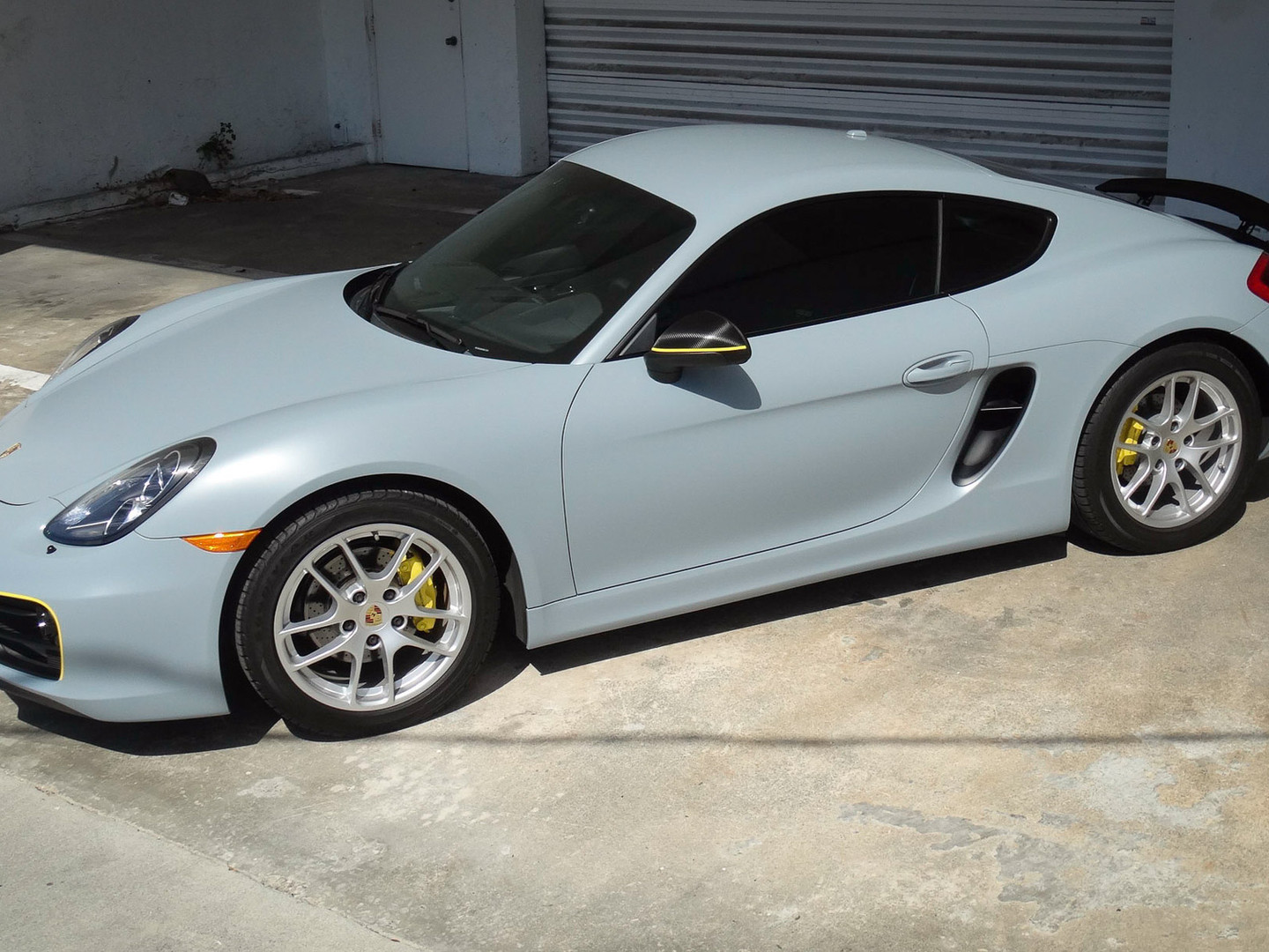 Porsche - Cayman Light Satin Car Wrap