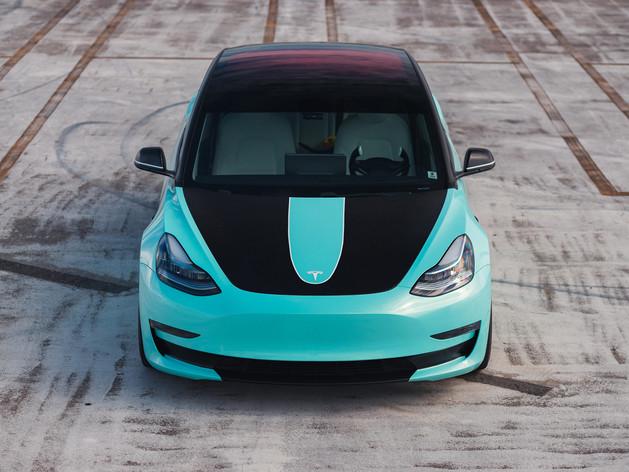 Tesla Model 3 - Custom Car Wrap and Window Tining