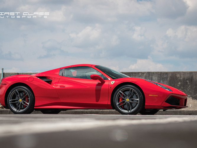 ferrari 488 gtb paint protection film and ceramic pro miami