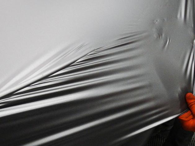 3M car wrap install in First Class AutosportsMiami