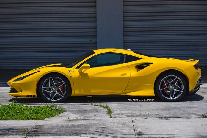 Ferrari F8 tributo paint protection film Miami