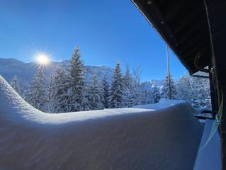 Traumhafte Schneeverhältnisse in Elm, 16.01.2021