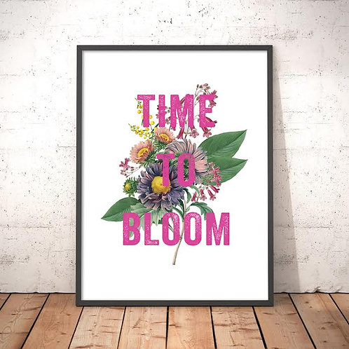 'Time to Bloom' Art Print (A4, A3)