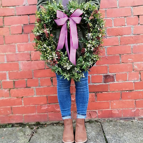 Bespoke Fresh Floral Door Wreath