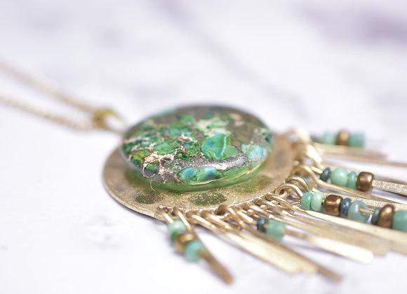 Chrysocolla Malachite Necklace