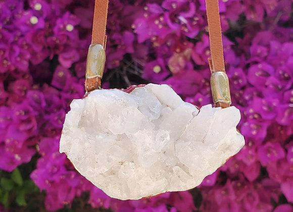 Clear Quartz Cluster Necklace