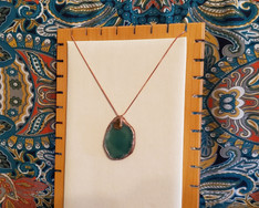 Agate and Tigers Eye Necklace