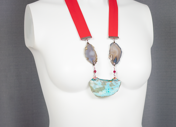 Larimar and Agate Necklace