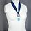 Thumbnail: Aqua Aura Quartz and Agate Necklace