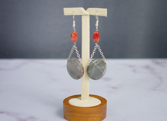 Cherry Orchard Jasper and Carnelian Earrings