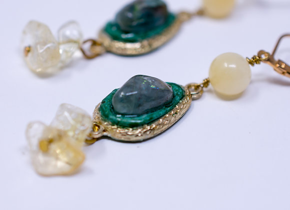 Apatite and Citrine Earrings