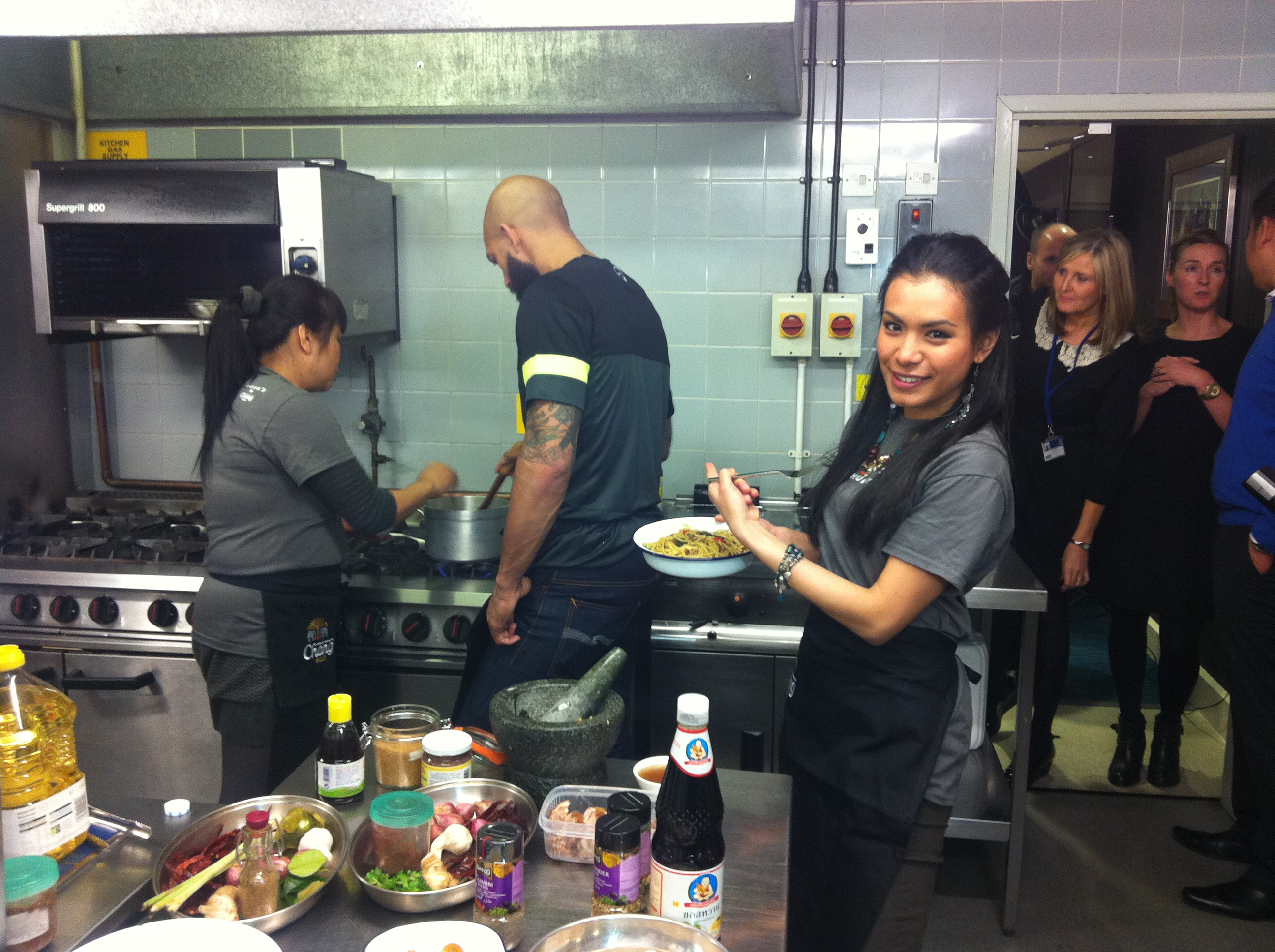Cooking with Tim Howard Everton FC