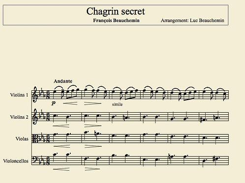 Chagrin secret de François Beauchemin (partitions)