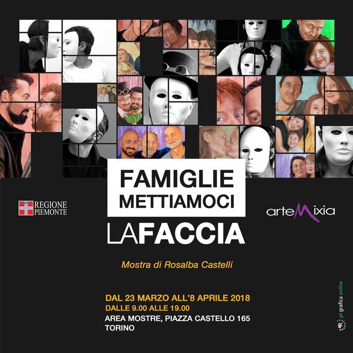 Famiglie: mettiamoci la faccia! esposizione Regione Piemonte
