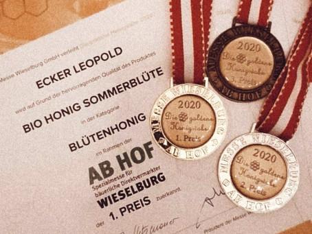 Preisverleihung Goldene Honigwabe 2020