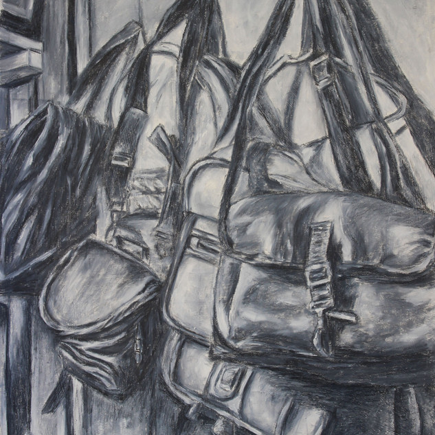 <Still life> 14.5*16.5 Oil paint, Charcoal