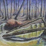 <Landscape#2> 16x12 inches Soft pastel