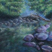 <Landscape #3> 12x16 inches soft pastel