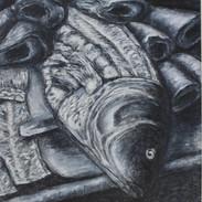<Massacre#3> 13.75*17.25 inches Oil paint, Charcoal