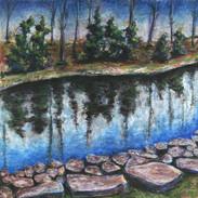 <Landscape#1> 12x16 inches Soft pastel