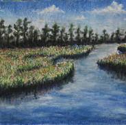 <Landscape #8> 16x12 inches Soft pastel