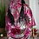 satin robe with scarf