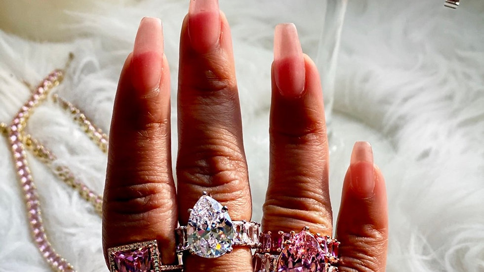 """""""CZ"""" Cocktail Ring"""