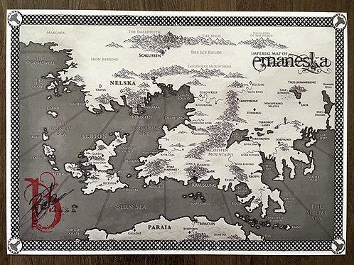 Emaneska - Signed Map (Ben Galley)