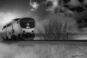 Train In A Storm