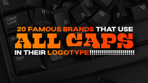 20 famous brands that use ALL CAPS in their logos