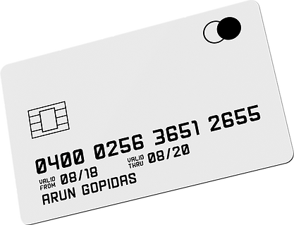 credit card graphic design