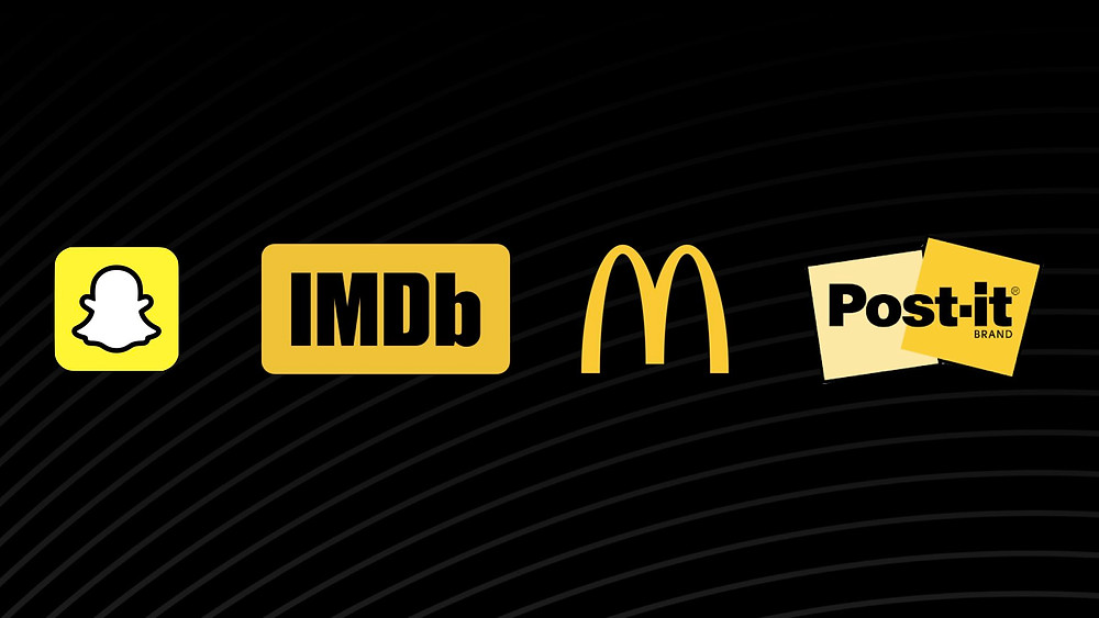 Snapchat, IMDB, McDonalds, Post-it