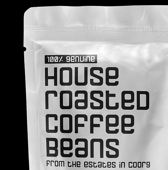 close up of coffee packaging graphic design
