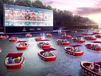 París abre un cine flotante el 18 de julio para ver películas desde una barca