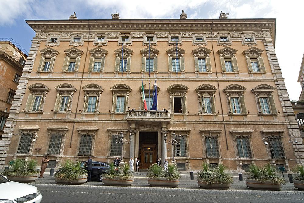 Palazzo Madama en Roma, sede del Senado italiano