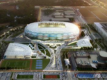 Qatar inauguró su tercer estadio para el Mundial 2022: 'Un Diamante en el Desierto'.