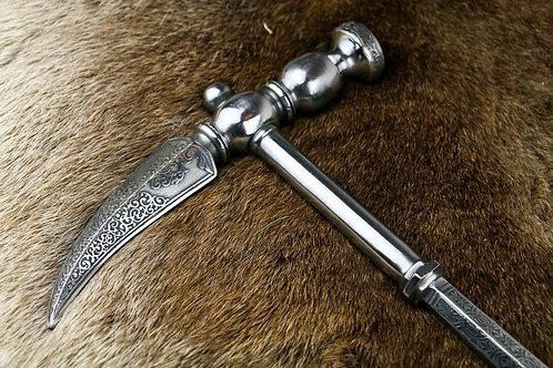 Medieval War Hammer Etched