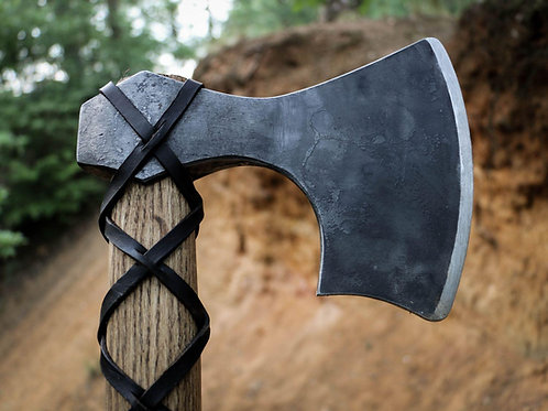 Viking Axe Of Eric Bloodaxe. Hand Forged Bearded Nordic Axe.