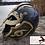 Thumbnail: Viking Battle Helmet, Brass Decorated Jörmungandr