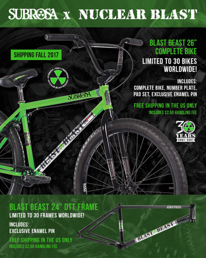 subrosa bmx nuclear blast bike