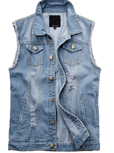 Denim Battle Vest Sleeveless