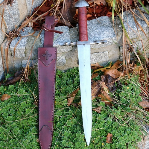 Knights Templar Ritual Dagger, Medieval Hand-Forged Knife