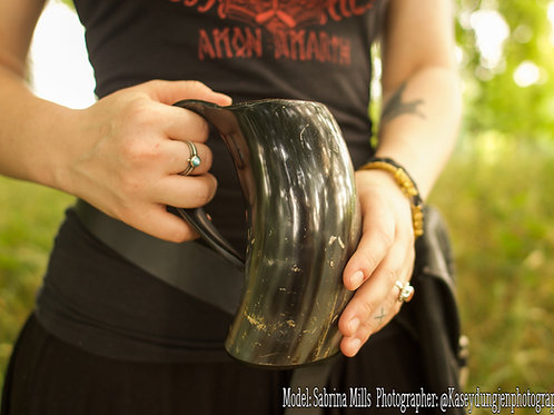 Personalized Extra Large Tankard Drinking Horn