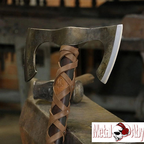 Double Bladed Barbarian Viking Axe