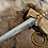 Thumbnail: Celtic Ritual Dagger Bronze, Hand Forged Historical Replica, Medieval Knife